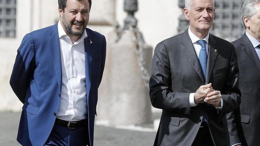 Foto di Salvini insieme a Gabrielli